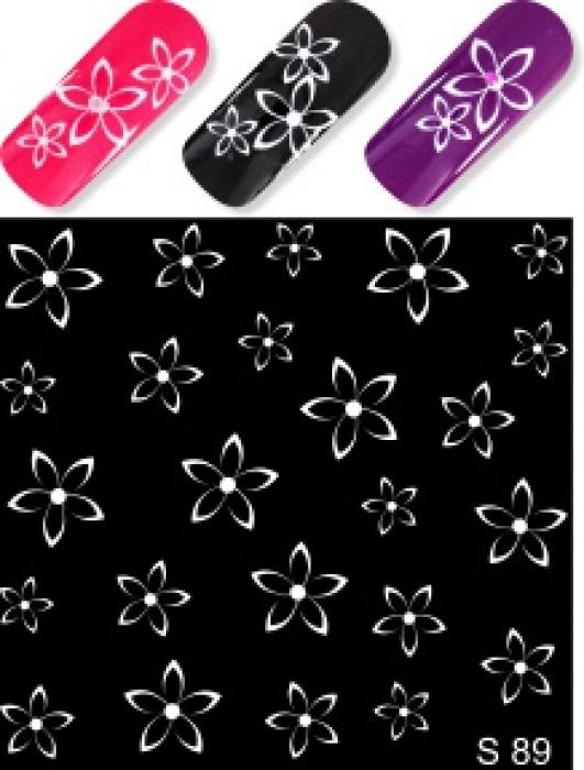 Купить водные наклейки слайдер-дизайн для ногтей S89 дешево в Минске Беларуси.